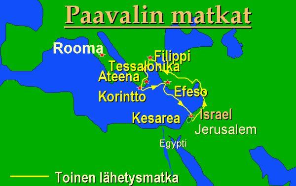 Paavalin Toinen Lahetysmatka Kartta Kuvia